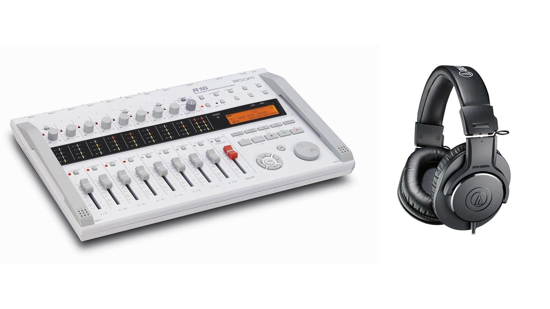 Zoom R16 w/ Audio-Technica ATH-M20x Headphones Bundle by Zoom (Image #1)