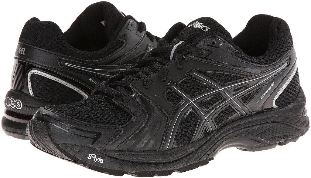 ASICS Women's Gel Tech Neo 4 Walking Shoe,Black/Black/Silver,6.5 M US
