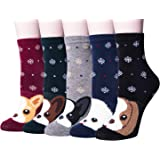 5 Pairs Womens Animal Funny Socks Winter Warm Cute Cat Socks Women