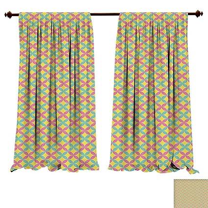 Amazoncom Fengruiyanjing Home Window Curtain Fabric Modern