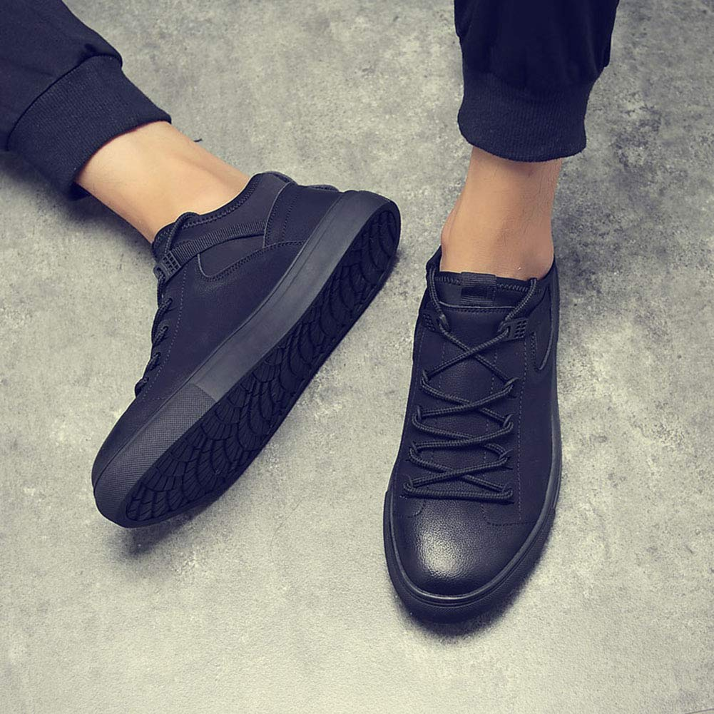XJH Mens Plain Sports Shoes Walking Leisure White Shoes Flattie