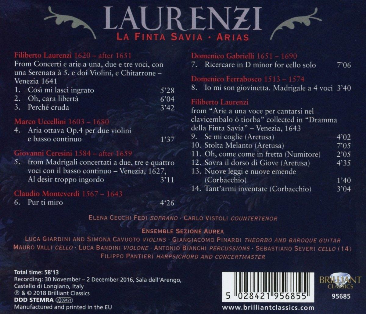Laurenzi: La Finta Savia; Arias