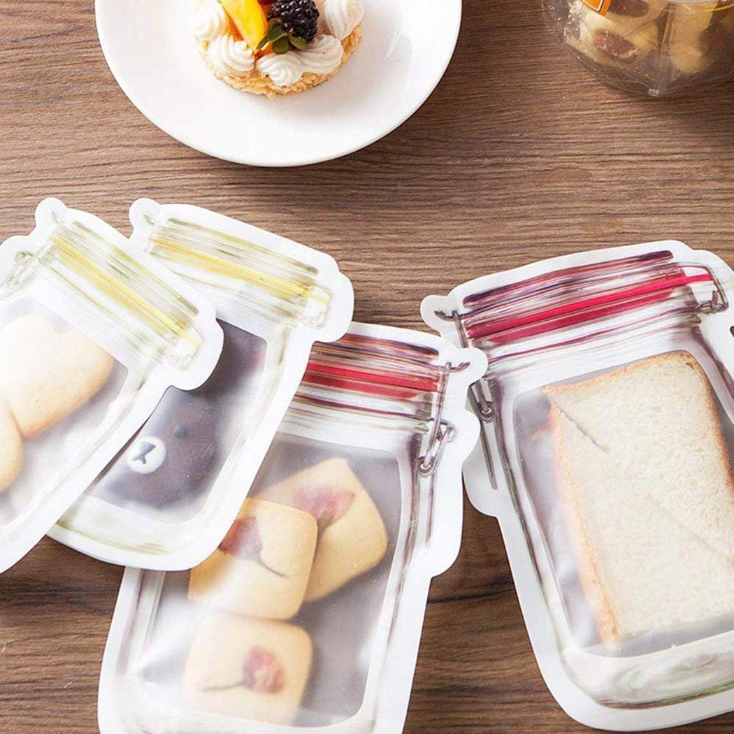 Suines 10pcs Portable Seal Transparent Snacks Moisture-proof Food Storage Bag Decorating & Pastry Bags by Suines (Image #7)