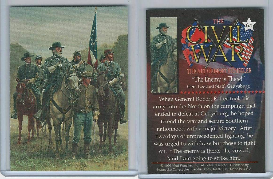 1996 Mort Kunstler, Civil War, 65 Enemy There!, Gen. Robert E Lee, Gettysburg