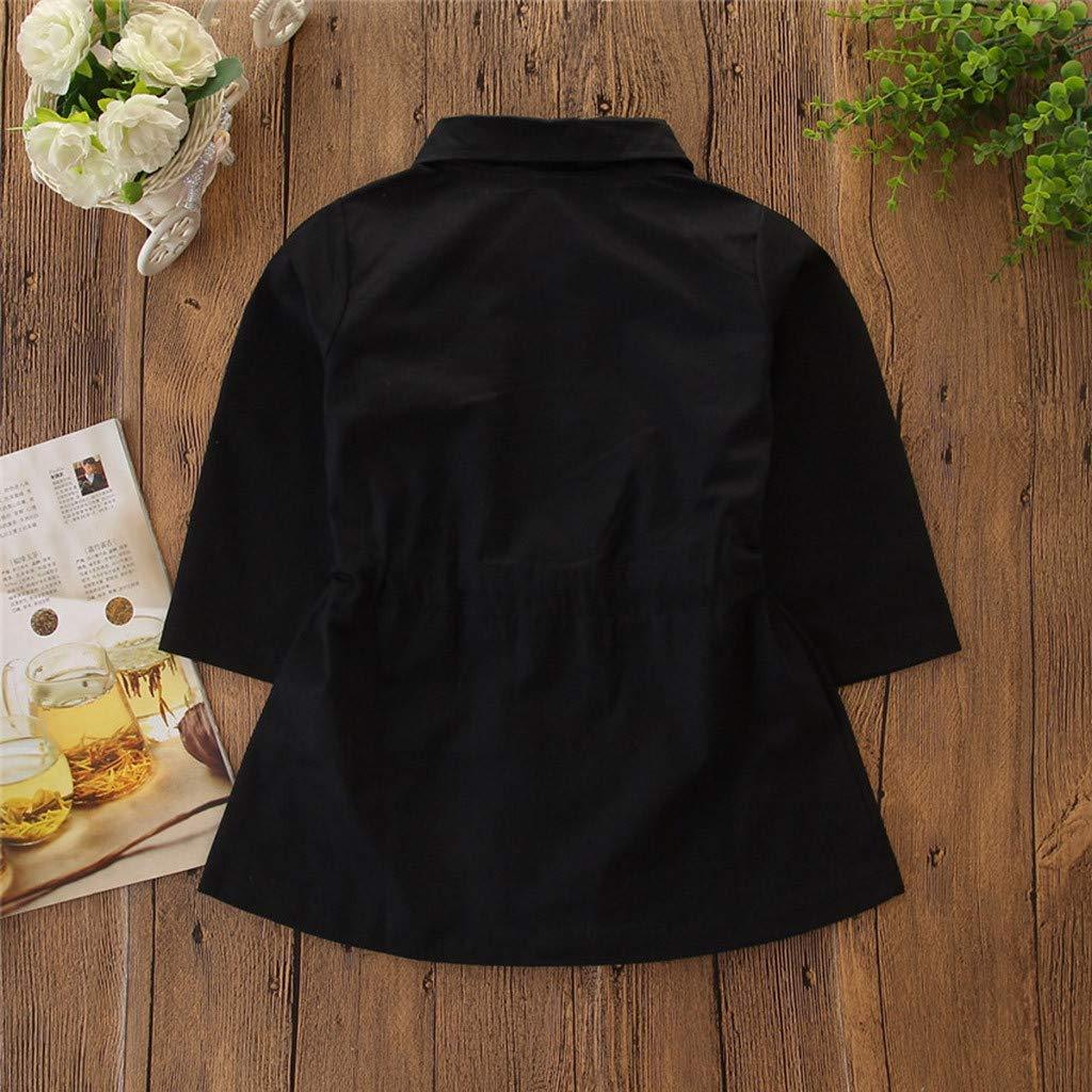 TTLOVE/_Baby Baby Kleidung Set Herbst,TTLOVE Kleinkind Kinder Baby M/ädchen Mode l/ässig Mantel Coole Langarm Trenchcoat Winddichte Jacke Outwear Kleidung mit Multi-Pocket