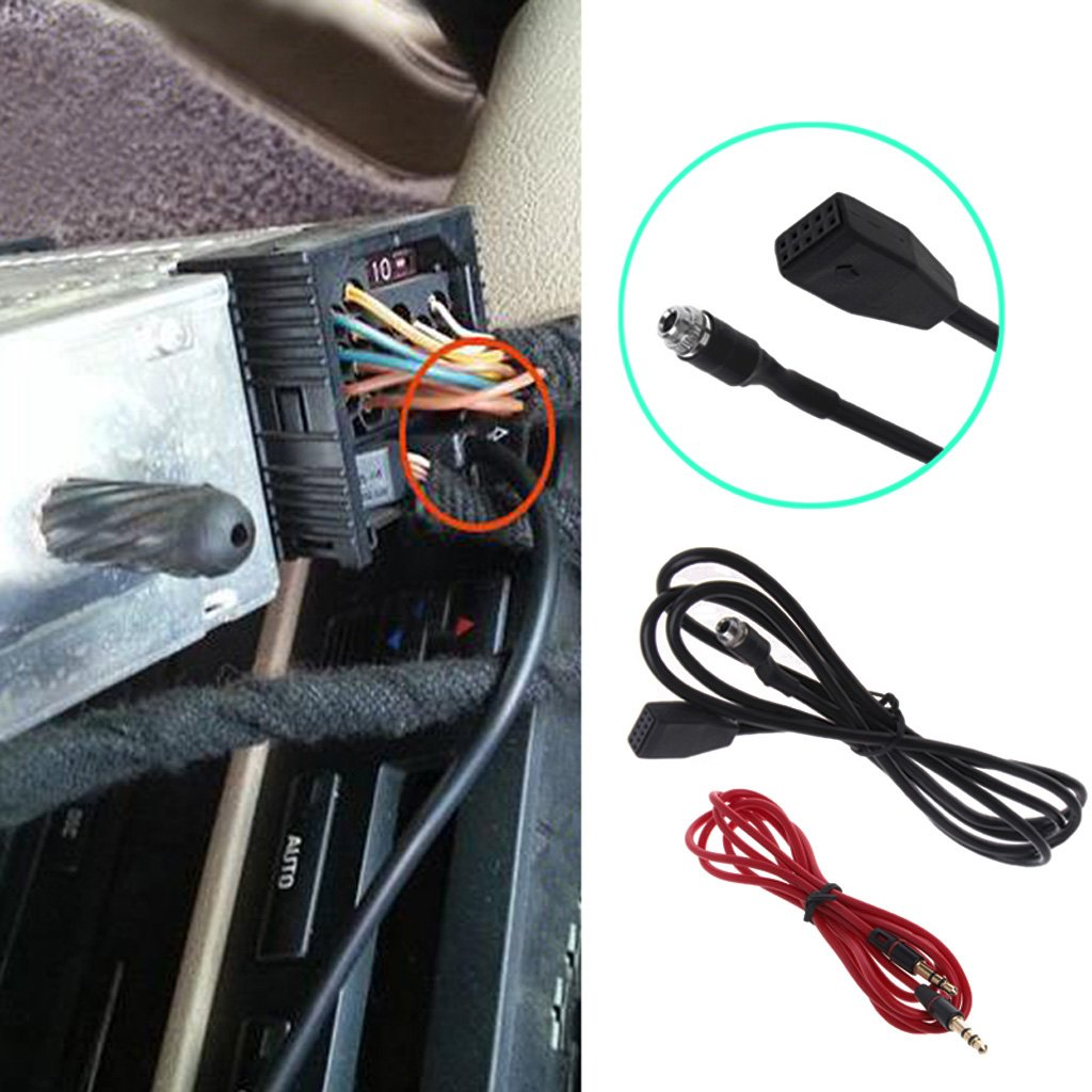 LIUXIA Adaptador de Interfaz MP3 para Cable de Audio AUX 3,5 mm para BMW E39 E53 X5 E46