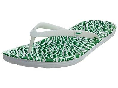 Nike Womens Wmns Solarsoft Thong 2 Print WHITESPRING LEAF 8 US
