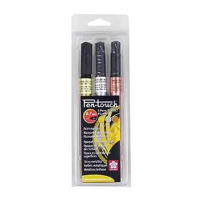 Extra Fine Sakura 42184 1-Pack Blister Card Pentouch Paint Marker Black
