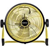 Geek Aire, 12 inch Rechargeable Table Fan with 15600 mAh Li-ion Battery, upto 24hrs Run time during Power Failure (Yellow)