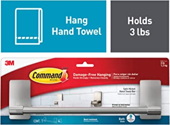 Command by 3M Kitchen Towel Rack, Decorate Damage Free, Strong and Versatile, 1
