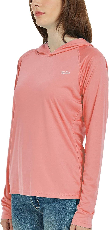 Willit Womens UPF 50 Sun Protection Hoodie Shirt Long Sleeve SPF UV Top Lightweight Quick Dry