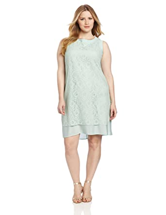 Julian Taylor Women\'s Sleeveless Lace Plus Size Dress