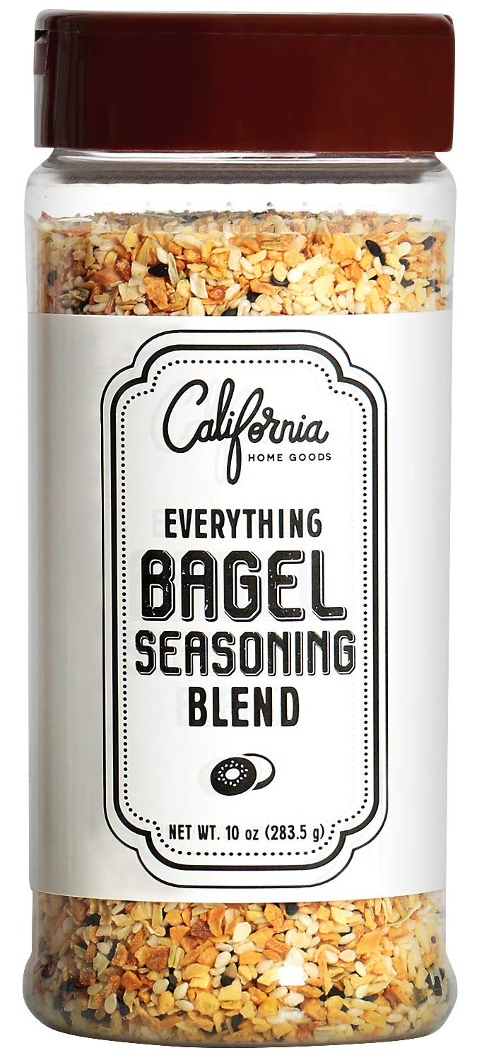 XL Bottle Everything Bagel Seasoning Blend 10 Ounce Bagel Allspice, Sesame Seasoning Spice Shaker, Delicious Blend of Sea Salt and Spices Sesame Garlic Powder Onion Flakes, Multi Seasoning Shaker Jar by California Home Goods