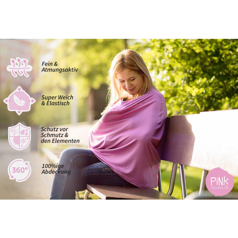 Baby Lactancia paño/Lactancia bufanda rosa Mausi - Multi - funcional, suave y transpirable. Ahoi: Amazon.es: Bebé