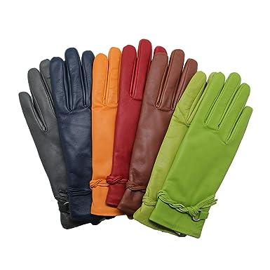 07c1faf5355882 YISEVEN Weiche Damen Warme Winterhandschuhe Kleid Handschuhe Thermal Lining  Lammfell Leder für Motorrad Arbeit Anzug Für