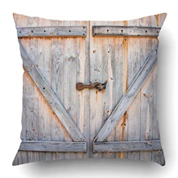 Emvency Fundas de almohada de 45 x 45 cm, diseño rústico de ...