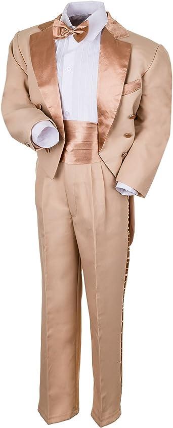Niños FRAC James de 5 Piezas en 4 Colores – Chaqueta, Pantalones, Camisas, kumber Cintura y Mosca.