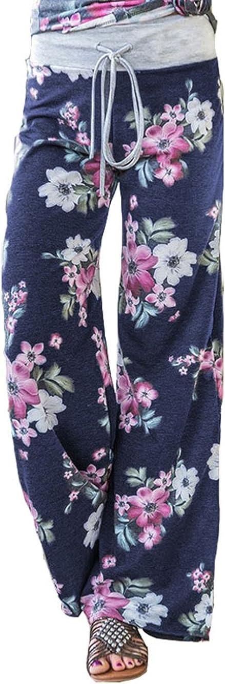 a gamba larga Pigiama da donna con motivo floreale Famulily stile casual