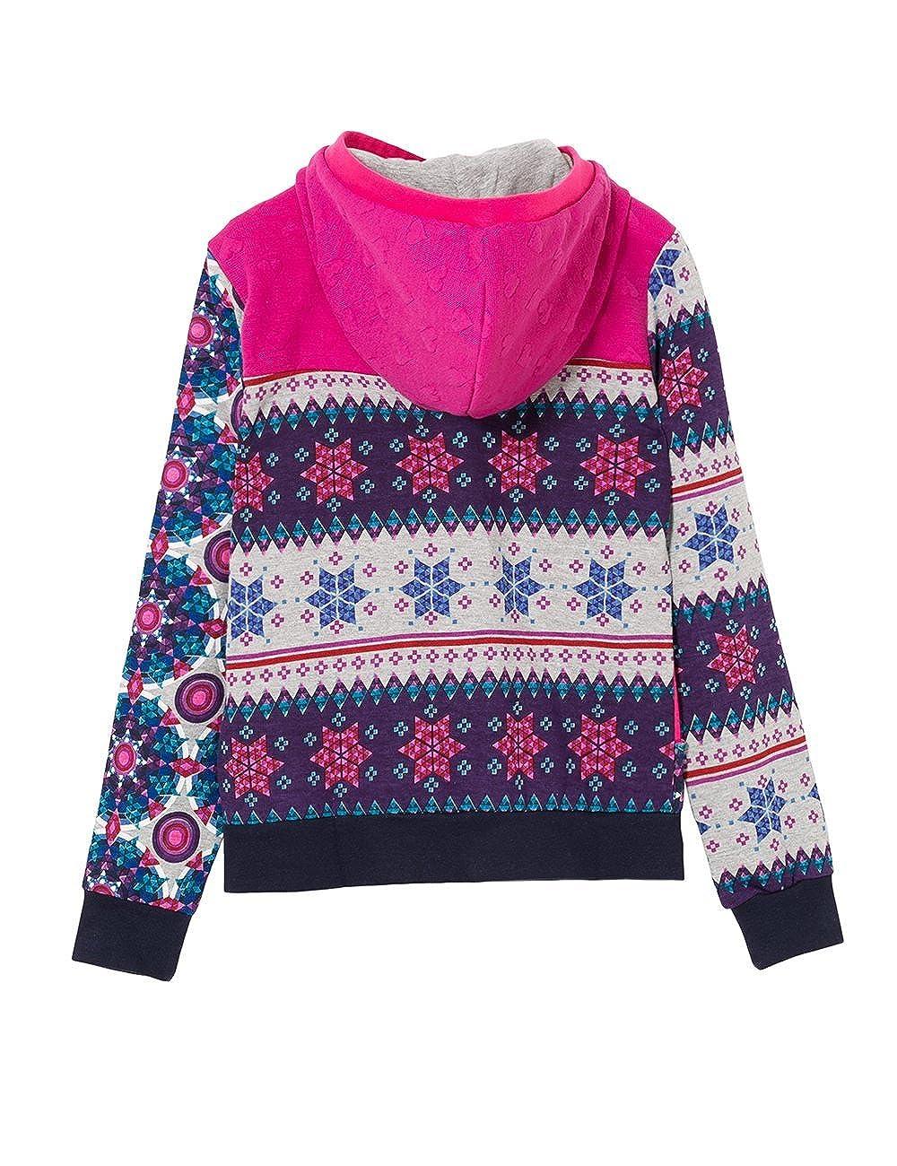 Amazon.com: Desigual Big Girls Sweater Becket, Fuchsia Rose, 7/8: Clothing