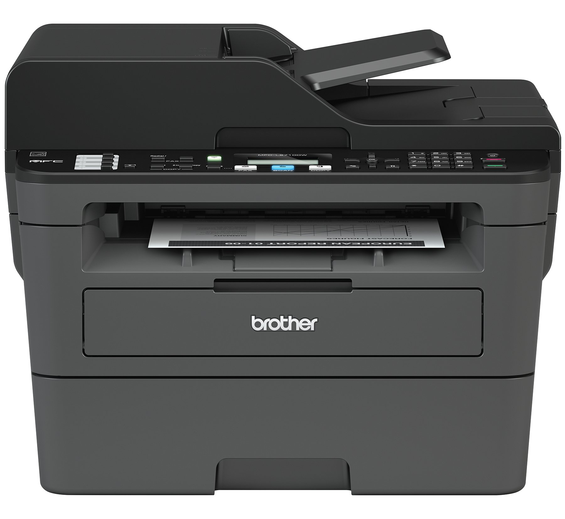 Brother Compact Monochrome Laser All-in-One Multifunction Printer, MFCL2710DW, Duplex Two-sided Printing, Wireless Printing, USB Interface, Amazon Dash Replenishment Enabled by Brother