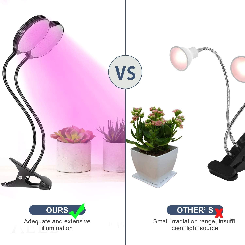 Full Spectrum L/ámpara para plantas 78 ledes l/ámpara de crecimiento con temporizador autom/ático 4H//8H//12H Plant Grow Light con 360 grados flexible cuello de cisne 2 cabezas l/ámpara LED de cultivo