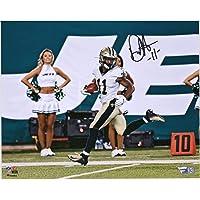"""$33 » Deonte Harris New Orleans Saints Autographed 8"""" x 10"""" Look Back Touchdown Photograph - Fanatics Authentic Certified"""