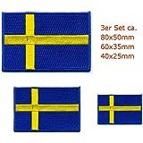 Drapeau suède suède 3 stickers stockholm sverige 0651 patch patch patch