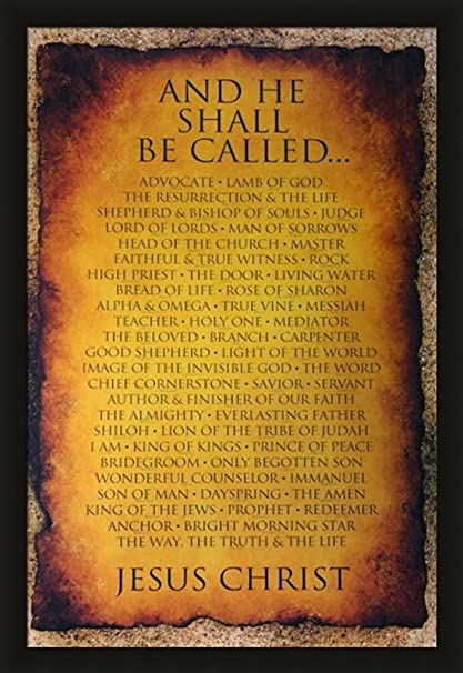 Amazon.com: Black 1.5 inch Framed with And He Shall Be Called 24x36 ...