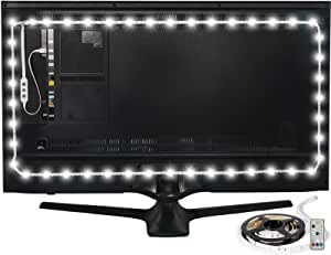 """Luminoodle Color Bias Lighting, USB TV and Monitor Backlight LED Strip Lights Kit with Dimmer, Remote - 6.6 ft for 24"""" to 60"""" TV - Medium"""