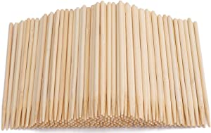 Yesland 1000 Pack Candy Apple Sticks - 5.5 Inch Sturdy Bamboo Sticks for Caramel - Wooden Skewer Sticks for BBQ, Corn Dog, Corn Cob, Cookie, Lollipop & Kabob