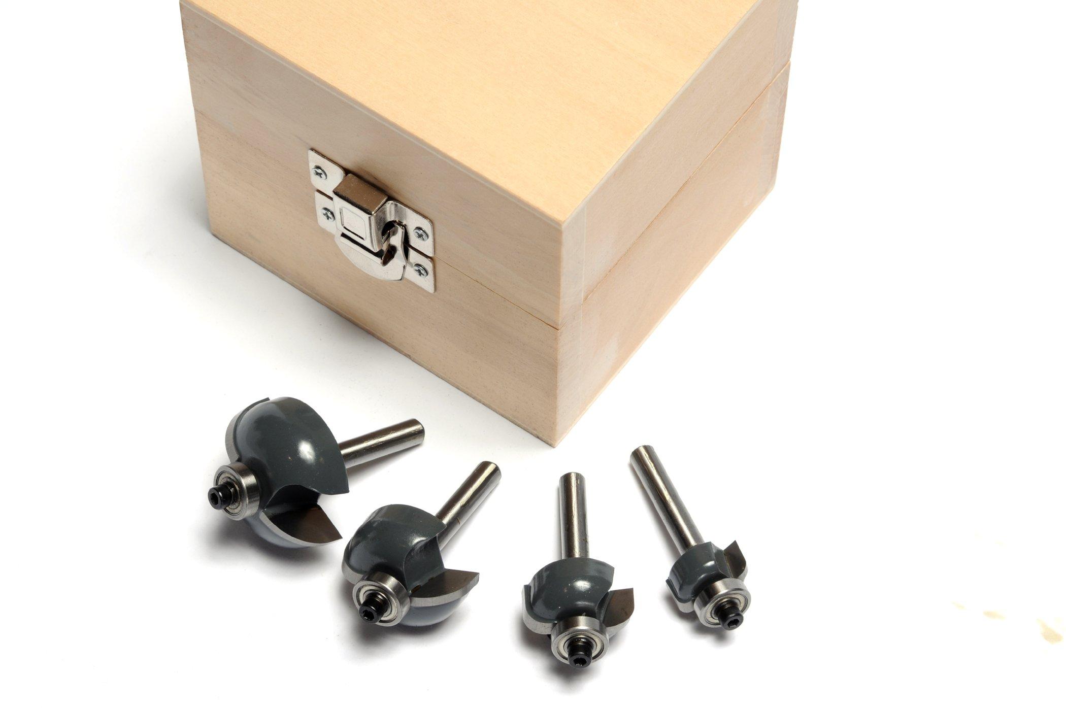 MLCS 6082 1/4-Inch Shank Cove Router Bit Boxed Set, 4-Piece
