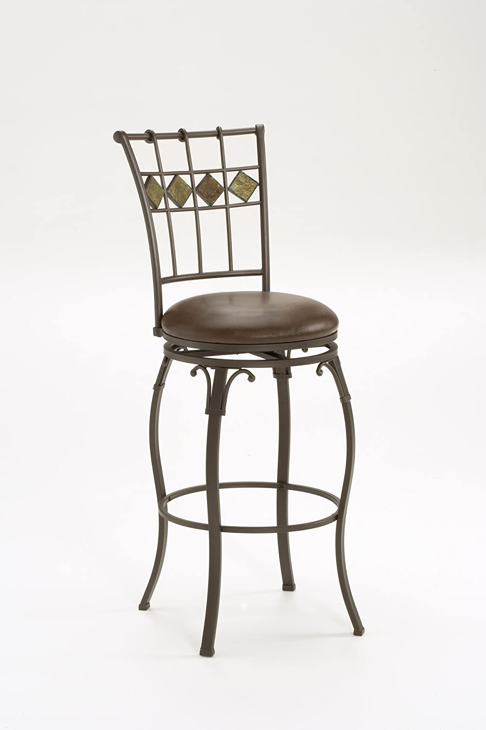 Amazon.com Hillsdale Lakeview Swivel Barstool 30-Inch with Slate Accents Brown Kitchen u0026 Dining & Amazon.com: Hillsdale Lakeview Swivel Barstool 30-Inch with Slate ... islam-shia.org