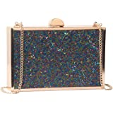 c04372cce734 M10M15 Evening Clutch Purse Handbag for Women with Multi Navy Blue Purple  Tube Crystal for Wedding
