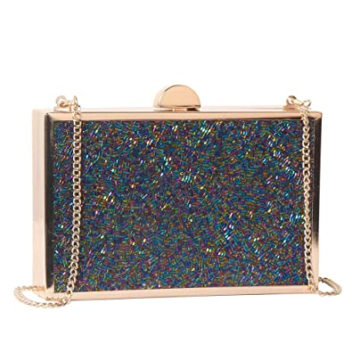 a8066e84d61b M10M15 Evening Clutch Purse Handbag for Women with Multi Navy Blue Purple  Tube Crystal for Wedding