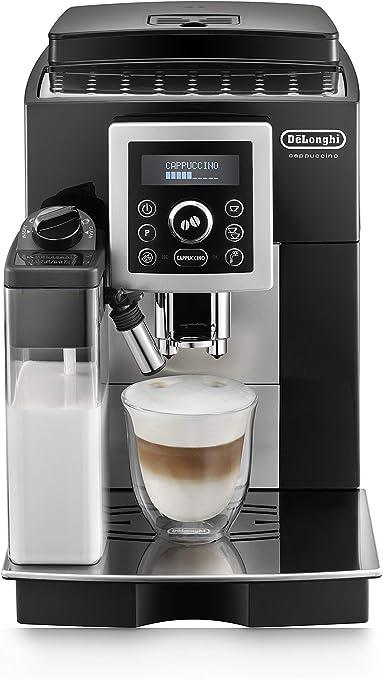 DeLonghi ECAM 23.463.B - Cafetera (Independiente, Máquina espresso, 1,8 L, Molinillo integrado, 1450 W, Negro, Plata): Amazon.es: Hogar