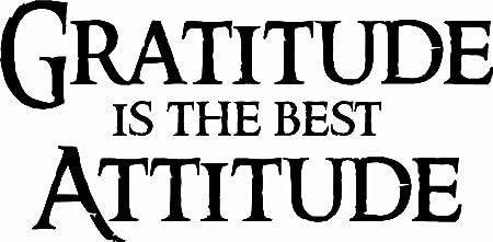 Attitude Of Gratitude Vinyl Decal