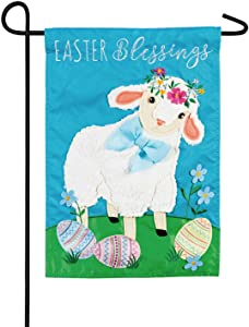 Evergreen Flag Easter Lamb Applique Garden Flag - 12.5 x 18 Inches Outdoor Decor for Homes and Gardens