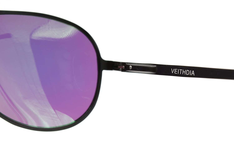 VEITHDIA 2287 gran cuerno con borde de ajustable UV400 polarizadas gafas de aviador: Amazon.es: Ropa y accesorios