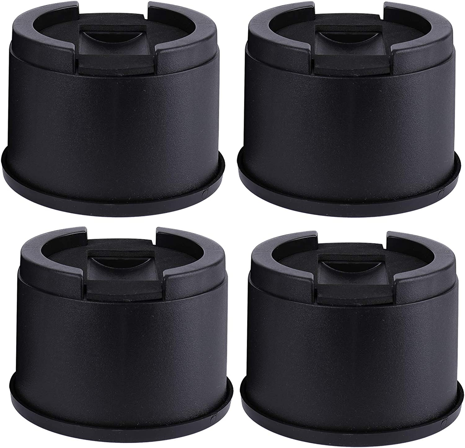 Yopay 4 Pack Bed and Furniture Risers, 3 Inch Stackable Adjustable Furniture Raisers for Protecting Floors and Surfaces, Durable ABS Plastic and Anti Slip Pad, Lifts Height 3