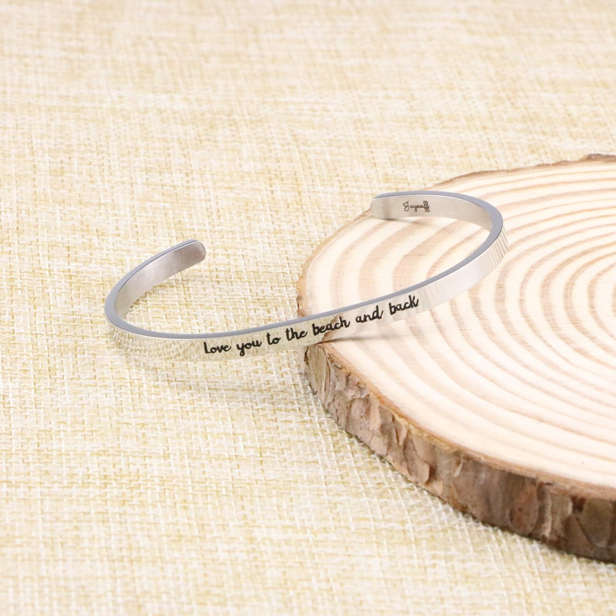 Joycuff Beach Jewelry Stainless Steel Cuff Bangle Bracelet Ocean Inspired Love You To The Beach And Back by Joycuff (Image #3)