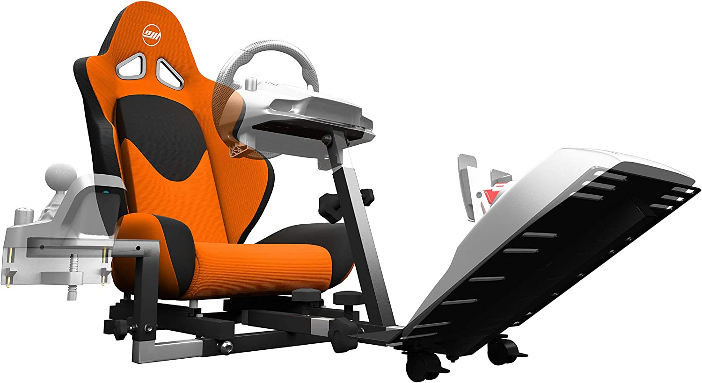 48b4148fc58c Amazon.com  Openwheeler GEN2 Racing Wheel Stand Cockpit Orange on Black
