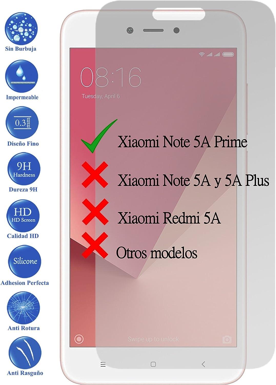 Todotumovil Protector de Pantalla Cristal Templado Vidrio 9H Premium para Xiaomi Redmi Note 5A Prime