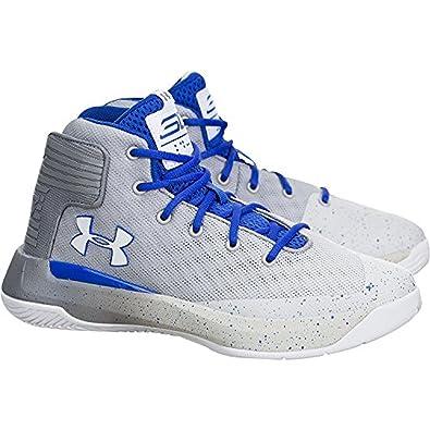 f9070379235 Amazon.com  Under Armour Curry 3Zer0 (Preschool) White Blue-Grey  Shoes