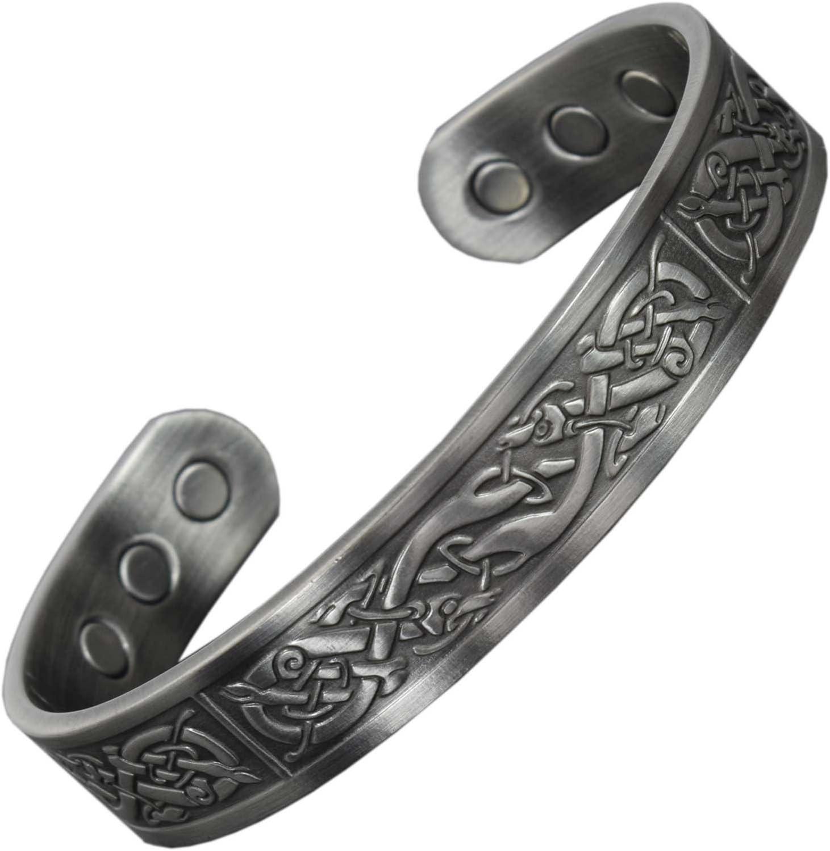 Men//Womens Unisex Irish Celtic Knot /& Magnetic Hematite therapy stretch bracelet