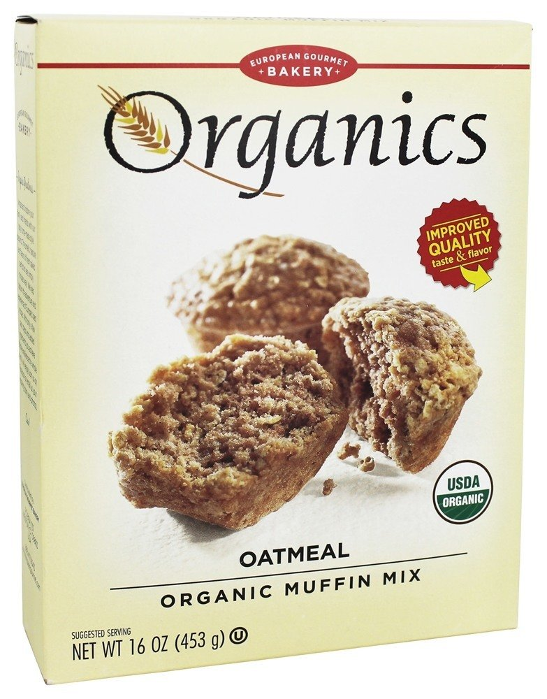 European Gourmet Bakery - Organic Muffin Mix Oatmeal - 16 oz(pack of 2)