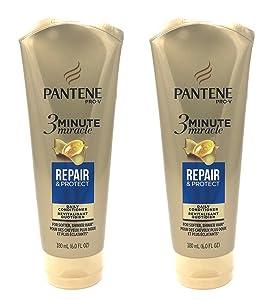 Pantene 3 Minute Miracle Deep Conditioner Repair Protect 6 Oz Pack of 2