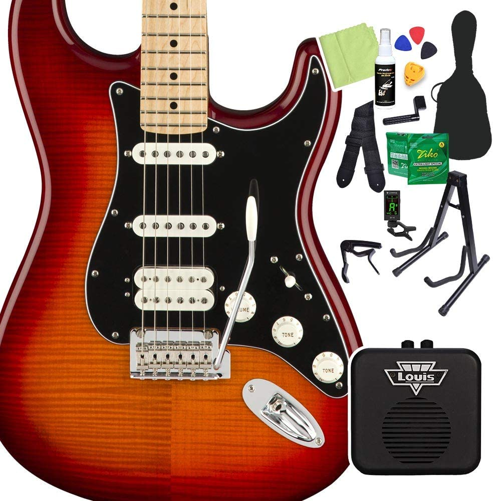 Fender Player Stratocaster HSS Plus Top Aged Cherry Burst 初心者14点セット 【ミニアンプ付】 ストラトキャスター フェンダー
