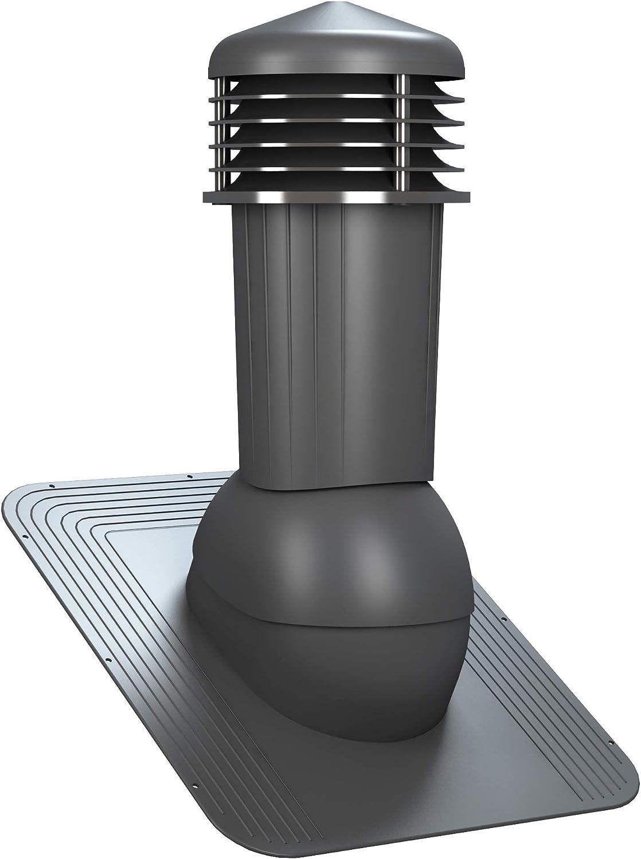RAL 3009 - Rot Entl/üfterkamin DN125 mm STANDARD f/ür Bitumenschindel Dachl/üfter L/üftungsziegel