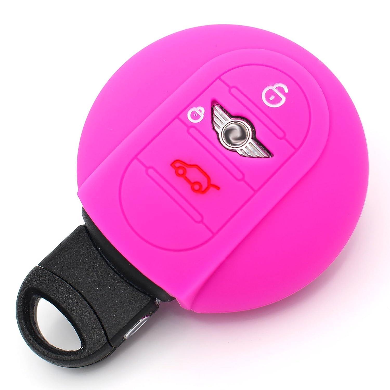 Silicone Cover Neon Pink Mini B Silicone Case Cover from Finest-Folia Cooper One Clubman John Cooperworks F56 F57 Finest-Folia GmbH SHM