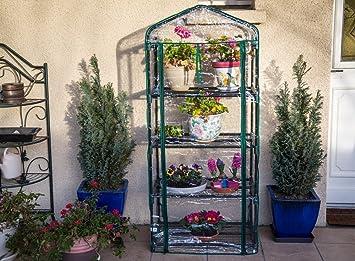 Serre de jardin, balcon, terrasse - Structure acier vert housse PVC ...